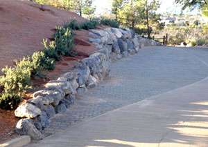 Golf Course Rock Wall Work